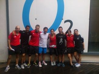 Alfredo Arense con el equipo de O2 Centro Wellness Plenilunio