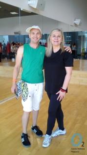 María José y Osman tras una de las clases de Zumba en O2 Centro Wellness Neptuno